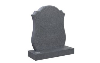 Suitable for 21-24inch wide headstone, camber top with check and scotia shoulders, grey granite