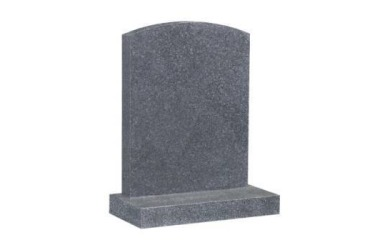Suitable for 21-24inch wide headstone, camber top, grey granite