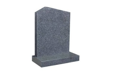 Suitable for 21-24inch wide headstone, offset peon top, grey granite