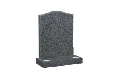 Suitable for 21-24inch wide headstone, ogee with moulded border, grey granite