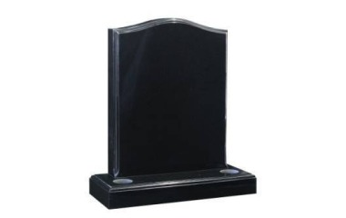 Suitable for 21-24inch wide headstone, ogee with moulded edges, black granite