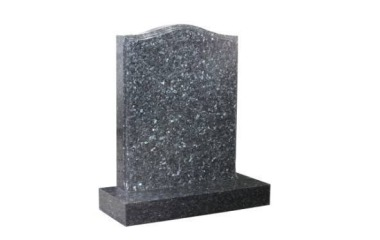 Suitable for 21-24inch wide headstone, ogee with moulded edges, blue pearl granite