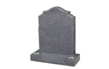 Suitable for 21-24inch wide headstone, ogee with ogee shoulders, chamfered, grey granite