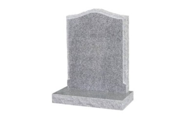 Suitable for 21-24inch wide headstone, ogee with recessed rustic edges, light grey granite