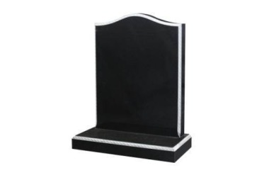 Suitable for 21-24inch wide headstone, ogee with roped edges, black granite