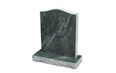 Suitable for 21-24inch wide headstone, ogee with rustic edges, royal green granite