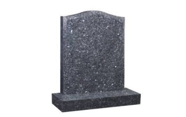 Suitable for 21-24inch wide headstone, ogee, chamfered edges, blue pearl granite