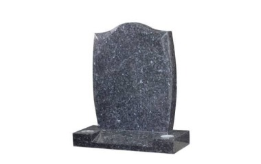 Suitable for 21-24inch wide headstone, ogee, chamfered with barrelled sides, blue pearl granite