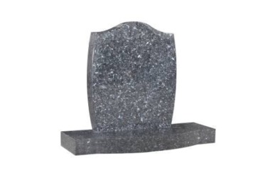 Suitable for 21-24inch wide headstone, ogee, chamfered edges, rounded base, blue pearl granite