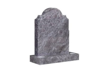 Suitable for 21-24inch wide headstone, oval top with checked scotia shoulders, bahama blue granite