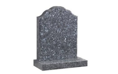 Suitable for 21-24inch wide headstone, oval top with ogee shoulders, blue pearl granite