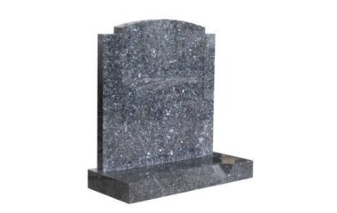 Suitable for 21-24inch wide headstone, oval with checks, part-splayed base, bahama blue granite