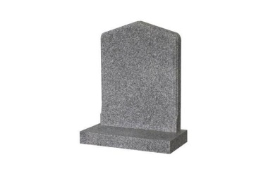Suitable for 21-24inch wide headstone, peon top with rounded shoulders, moulded border, grey granite