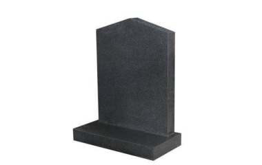 Suitable for 21-24inch wide headstone, peon top, black granite