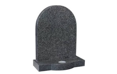 Suitable for 21-24inch wide headstone, round top, bowed base, grey granite