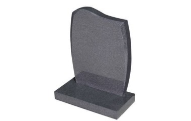 Suitable for 21-24inch wide headstone, serpentine top, chamfered, grey granite