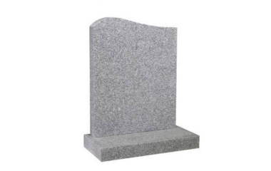 Suitable for 21-24inch wide headstone, serpentine top, white granite