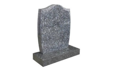 Suitable for 21-24inch wide headstone ogee top, chamfered, blue pearl granite