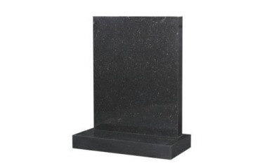 Suitable for larger than 24inch headstone, square top, black granite